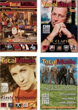 A selection of Total Music magazine covers